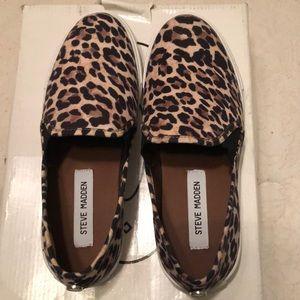New! Steve Madden leopard slip on sneakers